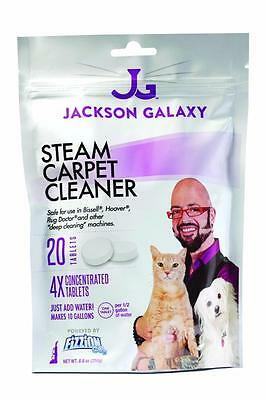 Jackson Galaxy Fizzion Steam Carpet Cleaner 20 Tab Hoover Bissell Rug Doctor