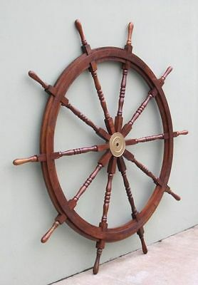 "58"" Wooden Ship Wheel ~ Boat~ Pirate ~ Nautical ~ Home Decor ~ Teak Wood Wheel"