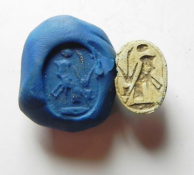 Zurqieh - Ancient Egypt - New Kingdom . Steatite Scarab , Beautifull .1400 B.c