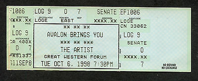 1998 The Artist Formerly Known As Prince concert ticket CA New Power Soul Tour
