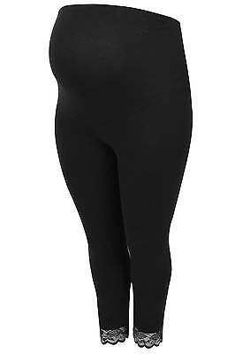 Womens Bump It Up Maternity Cotton Elastane Cropped Leggings With Comfort Panel