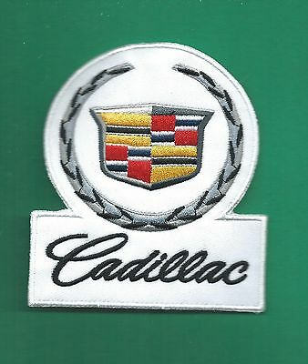 New 3 1/2 X 4 Inch Cadillac Iron On Patch Free Shipping