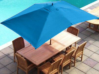 Turquoise 2 x 3 Metre Rectangular 6 Arm Replacement Garden Parasol Canopy Cover