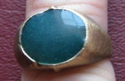 Antique Artifact   19th Century Bronze Finger Ring  SZ: 8 US 18mm 14391 DR