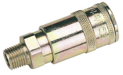 "Draper 1/4"" BSP Taper Male Thread Vertex Air Coupling (Sold Loose) - 51385"