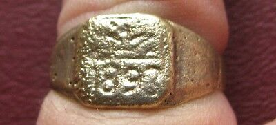 Antique Artifact   Bronze Finger Ring dated 1893 SZ: 9 1/2 US 19.5mm 14384 DR