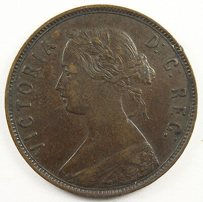 1896 CANADA LARGE CENT NEWFOUNDLAND Great Design Nice Original Toning