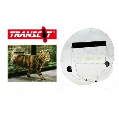 Transcat 4-way Locking Pet Door for Glass Fitting (Cat door)