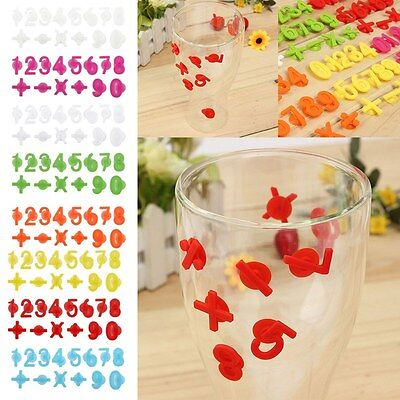 14pcs Glass Wine Cup Silicone Label Tag Marker Sucker Identification Digital