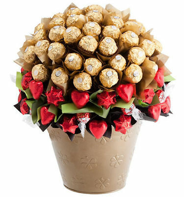 BRAND NEW Luxury Chocolate Bloom - Edible Blooms Chocolate Bouquet Hamper - Cele