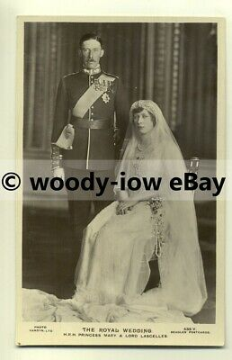 r0110 - Princess Mary on her Wedding Day , daughter of King George V - postcard
