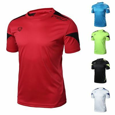 New Mens Boys Sport Exercise Tops Shirt Fitness Gym Quick Dry Stretch Tee Shirt