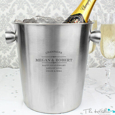 Personalised Ice Bucket / Wine Cooler - Champagne Prosecco Beer Anniversary Gift