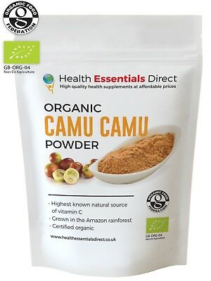 Organic Camu Camu Powder (Natural Vitamin C, Peruvian Superfood) Choose Size