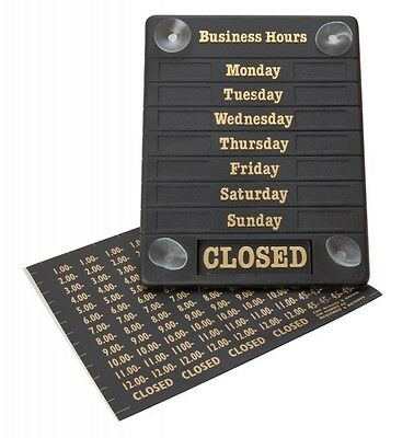 "Hours Of Business Open/closed Shop Sign Door Notice 8"" X 6.5"" Sent First Class"