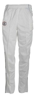 ND Cricket Trousers Boys Whites Cricket Clothing Navy Trim Plain Kids Trouser