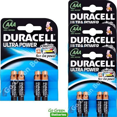 16 x Duracell AAA ULTRA Power Alkaline Batteries Powercheck Tester LR03 Micro