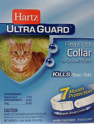 HARTZ ULTRAGUARD FLEA & TICK COLLAR FOR CATS & KITTENS 7 MONTH PROTECTION White