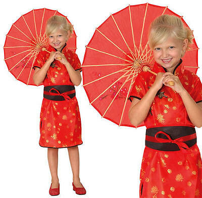 Childrens Kids Chinese Girl Fancy Dress Costume Oriental Childs Outfit L