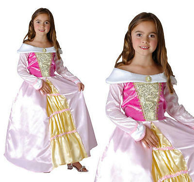Childrens Pink Princess Fancy Dress Costume Girls Kids Childs Outfit S