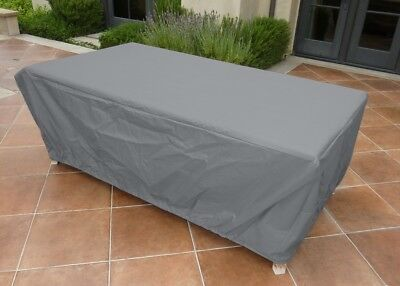 """Premium Tight Weave 84""""L x 44""""W x 25""""H Rectangular or Oval Table Cover Grey"""