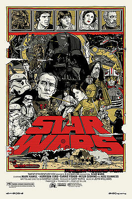 Star Wars A New Hope Mondo Movie Stw01 A3 Poster Art Print Buy 2 Get 3Rd Free