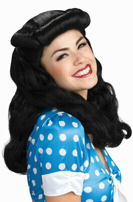 Brand New Bettie Page Pin up 40's Glam Costume Wig (Black)