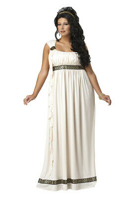 Brand New Sexy Olympic Goddess Toga Plus Size Adult Halloween Costume
