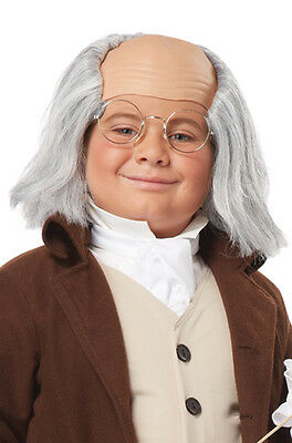 Brand New Child Colonial Benjamin Franklin Wig (Gray)