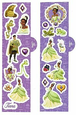 DISNEY PRINCESS 2 Sheets Scrapbook Stickers Tiana The Princess and the Frog