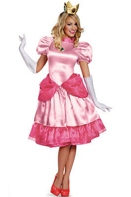 Brand New Princess Peach Deluxe Adult Costume