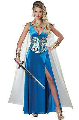 Brand New Medieval Warrior Queen Dress Princess Greek Goddess Adult Costume