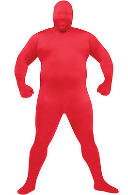 Brand New Skin Suit Plus Size Halloween Costume (Red)