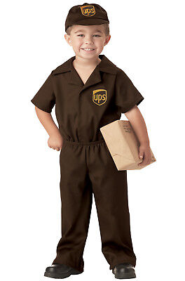 Brand New UPS Delivery Guy Licensed Uniform Boys Toddler Costume