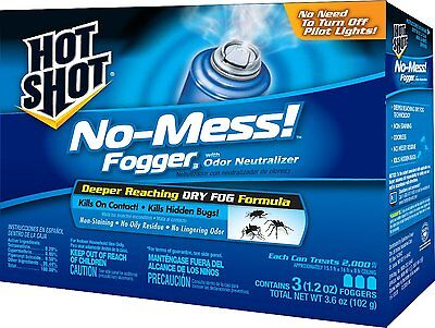 Hot Shot 20177 No-Mess! Fogger, 3-Count by Hot Shot Case Pack of 1 (20177) NEW