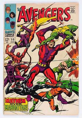 Avengers # 55  First Full App. Ultron grade 4.0 movie scarce hot book !!