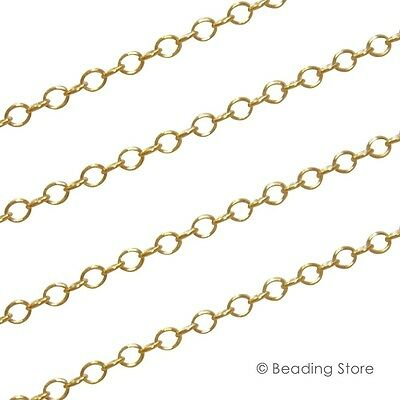 Various 14ct Yellow Gold Filled 2.2mm Cable Link Unfinished Beading Chain