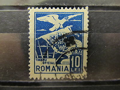 A2P4 ROMANIA OFFICIAL STAMP 1929 10l USED