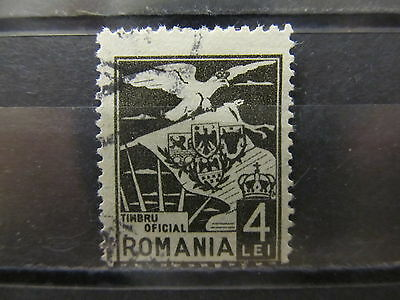 A2P4 ROMANIA OFFICIAL STAMP 1929 4l USED