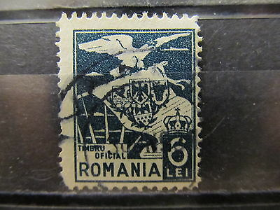 A2P4 ROMANIA OFFICIAL STAMP 1929 6l USED