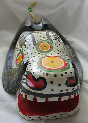 Hand Crafted Painted Wood Folk Art Mask