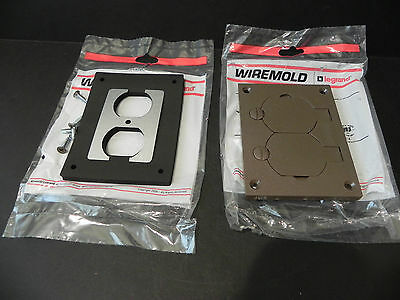 Wiremold Walker OmnIBox 828PR-BRN  Non Metallic Duplex Receptacle Plate 1 Gang
