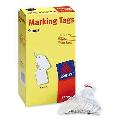 New Marking Price Tags 1000 PACK Avery White Label Storage Strings Sale Discount