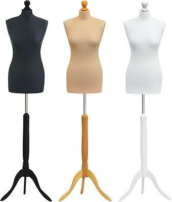Female Tailors Dummy Size 8/10 Tripod Base Dressmakers Mannequin Display Bust
