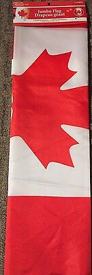 Canada Jumbo Flag Stitched Edges metal Grommets New. Polyester 24x36inches 2x3ft