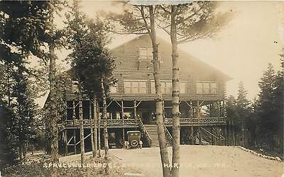 RPPC  SOUTH BAY HARBOR, Maine  ME  SPRUCEWOLD LODGE  1910s  Real Photo  Postcard