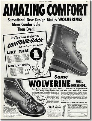 1952 Wolverine horsehide shell boots vintage print-ad