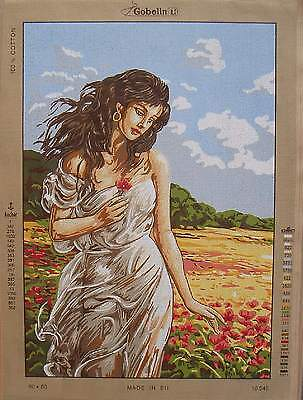 Gobelin needlepoint- Beautiful Woman 10.545- Large canvas 19.5 x 27.5""