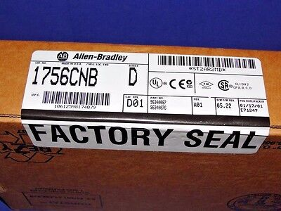 FACTORY SEALED Allen Bradley 1756-CNB Series D ControlNet Bridge ControlLogix