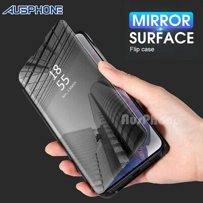 Mirror Shockproof Flip Case Cover  For Samsung Galaxy S10 Note 10 9 S9 S8 Plus